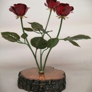 Ramo de Rosas en base de madera
