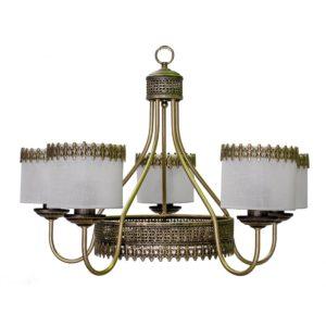 Lámpara Corona Greca 5 luces