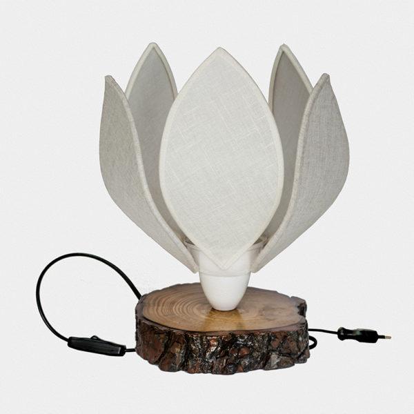 lámpara sobremesa flor de lino