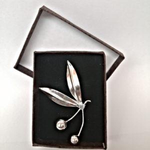 Broche de Olivo en plata