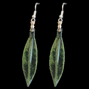 Pendiente  hoja de olivo