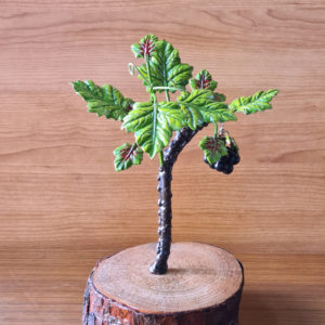 Parra pequeña en base de madera