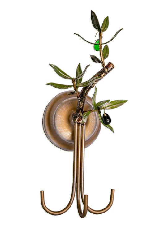 aplique olivo tres varillas